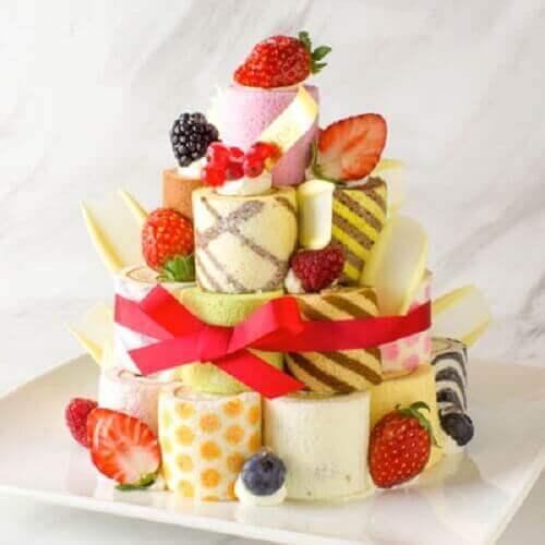 お城みたいなケーキ①
