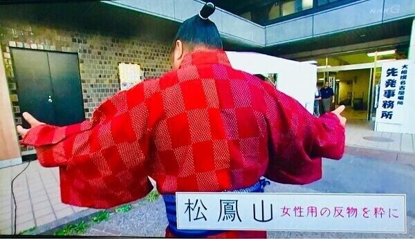 松鳳山の女性ものの反物を使った浴衣
