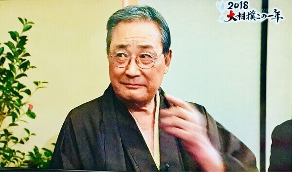 番組収録時の北の富士さんは和装