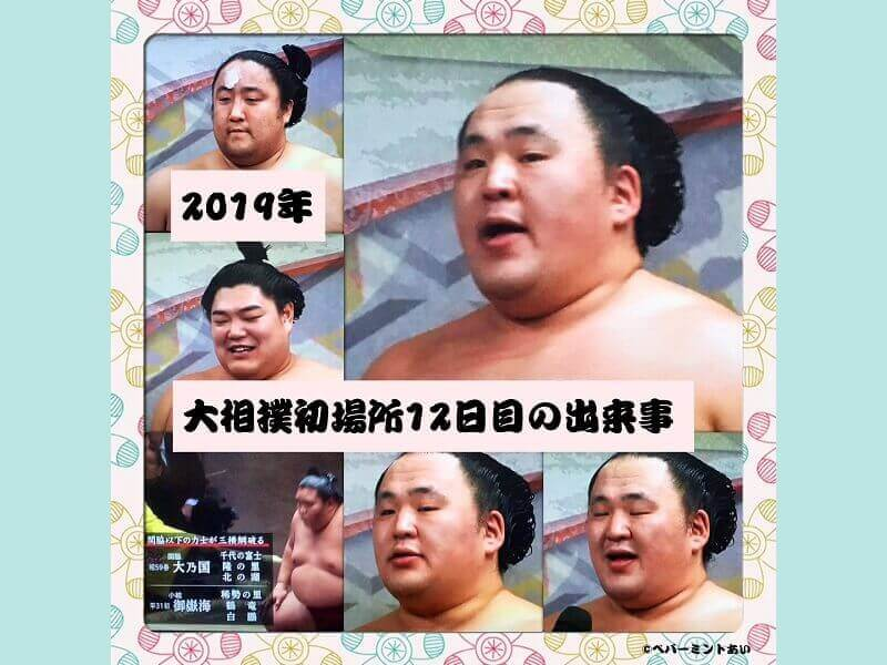 2019年大相撲初場所12日目の出来事アイキャッチ