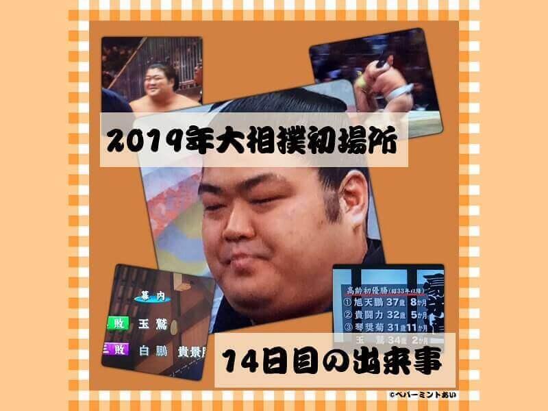 2019年大相撲初場所14日目の出来事アイキャッチ