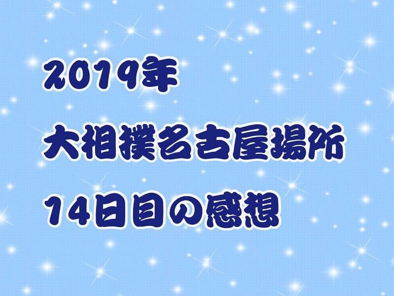 2019年大相撲名古屋場所14日目の感想アイキャッチ