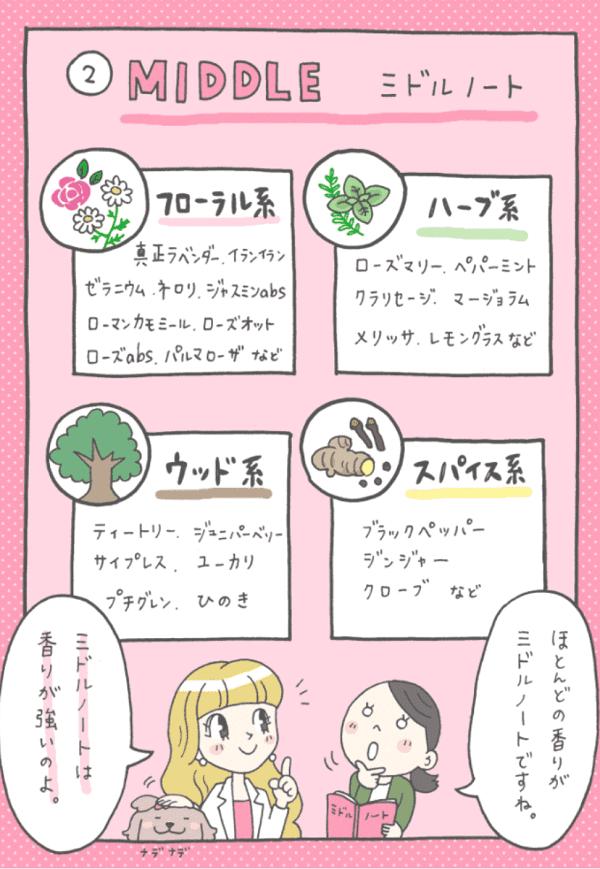 ミドルノートの精油リスト