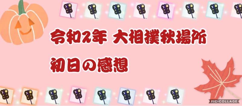 令和2年大相撲秋場所初日の感想アイキャッチ
